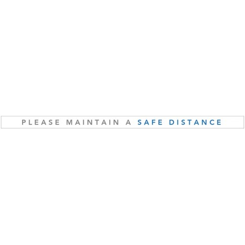Please Maintain a Safe Distance - Floor Graphic