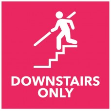 Downstairs Only - Red Floor Graphic