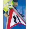Fold Up Sign - Road Narrows Left - 600mm Triangle